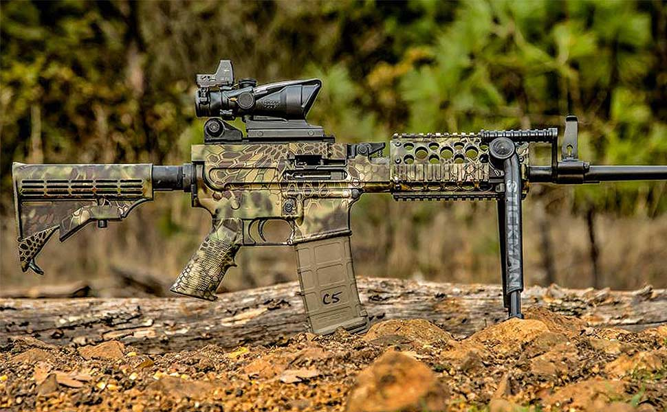 Amazon gunskins ar 15 rifle skin camouflage kit diy vinyl wrap ar 15 rifle skins are do it yourself vinyl wraps for armalite ar 15 and m4m16 compatible rifles solutioingenieria Image collections