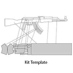 AK 47 Rifle Skin Kit Template With Precut Pieces