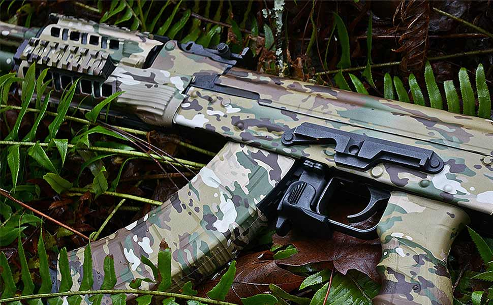 GunSkins AK-47 Rifle Skin Camouflage Kit DIY Vinyl Wrap with precut Pieces