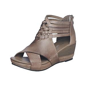 chocolat blu, chocolat blu shoes, leather sandal women, leather wedge sandal women, mules women shoe