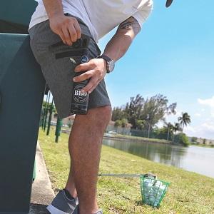 hidden bottle opener comfortable hybrid golf walk run shorts