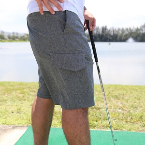 mens golf short tailgate relax cargo