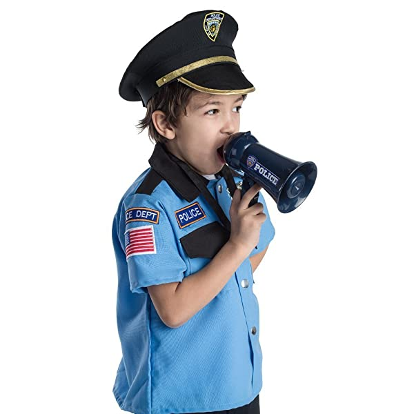 Amazon.com: Megáfono Infantil Oficial de Policía, talla ...