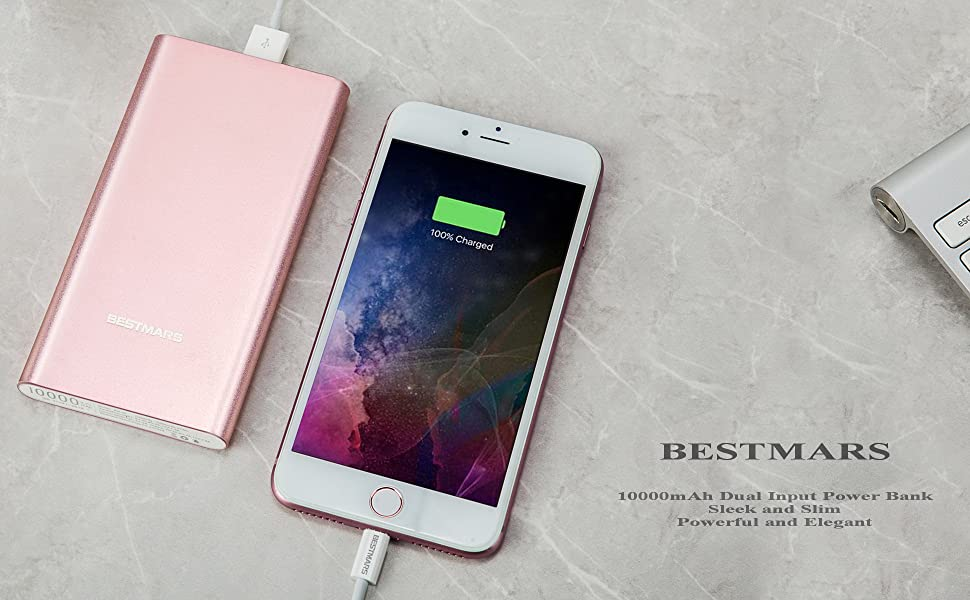 10000mAh Quick Charge QC 3.0 Portable Charger Fast Charging Power Bank Slim Back Up Battery Pack Compatible For iPhone X XS MAX XR 8 7 6 6s Plus 5s & ...