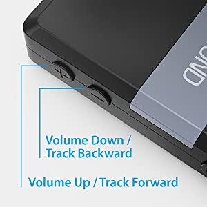 volume track control buttons