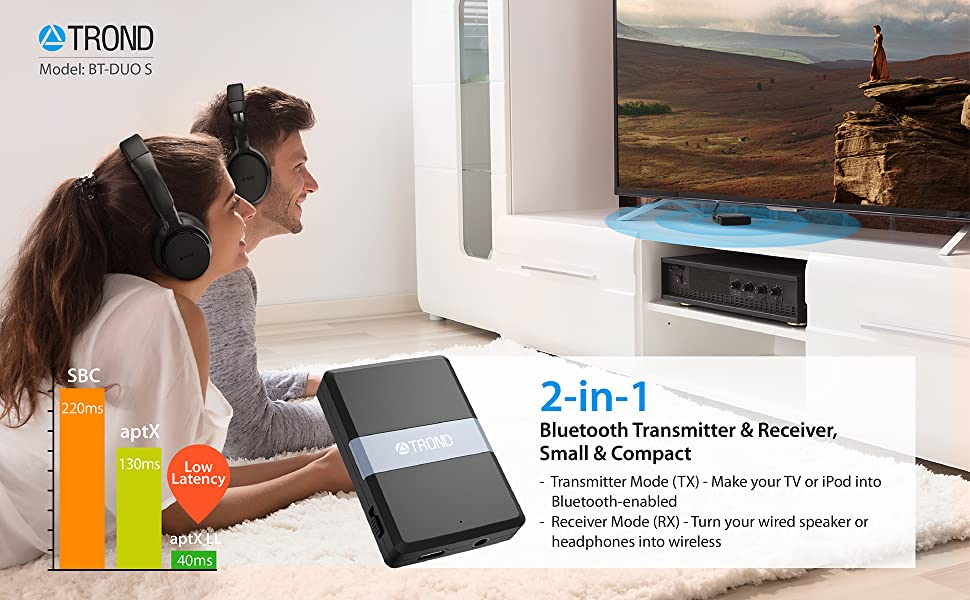 TROND BT-DUO S 2-in-1 Bluetooth V4.1 Transmitter Receiver