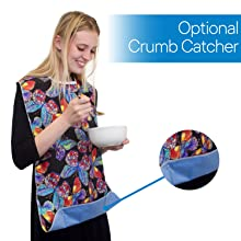 Crumb Catcher helps catch any food drops, spill, stains by accident