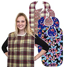 RMS adult bib suitable for both men and women. it is waterproof, washable and reusable.