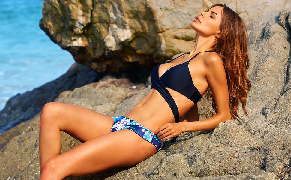 Amazoncom MOOSKINI Womens Padded Push up Bikini Set Bathing
