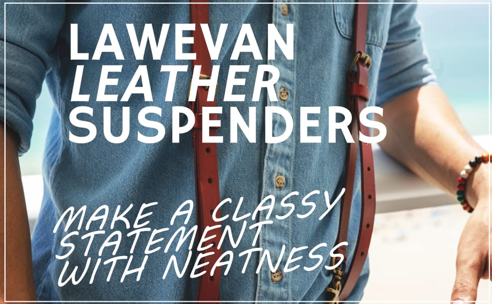 Lawevan Leather Suspenders