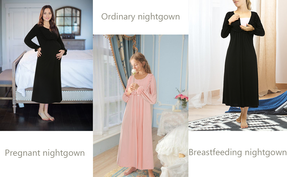 13d58fad0f Suzicca Women's Cotton Victorian Vintage Lace Long Nightgown ...