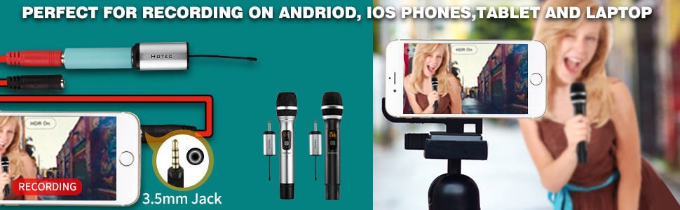 Wireless vocal microphone