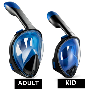 Best Full Face Snorkel Mask 2020 Amazon.: WONICE Snorkel Mask Full Face for Adults and Kids