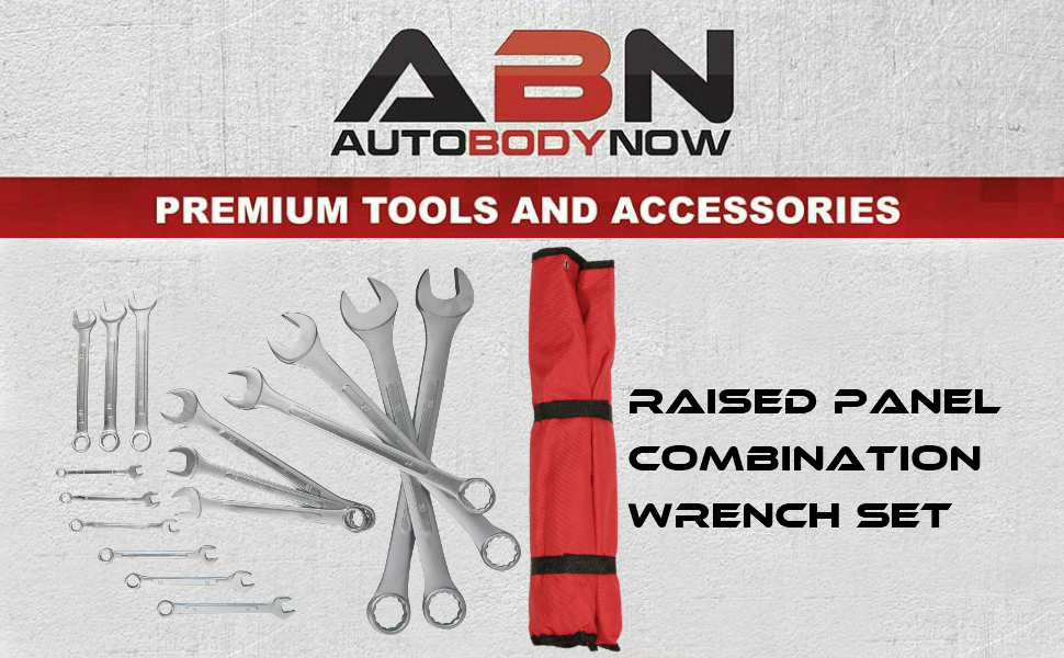 Picture of ABN (Auto Body Now) - Premium tools and accessories - Raised panel combination wrench set