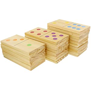 Picture of domino pieces stacked