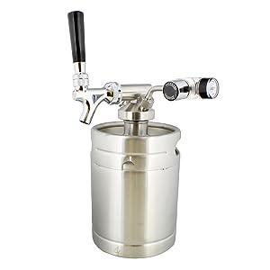 mini keg with regulator/dispenser