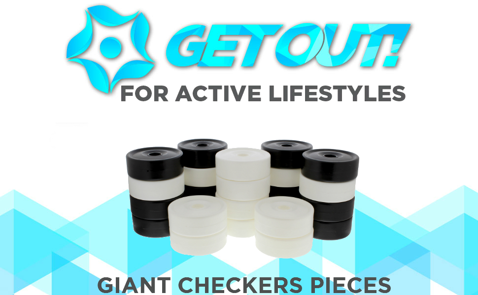 Get Out! - For active lifestyles - Giant checkers pieces