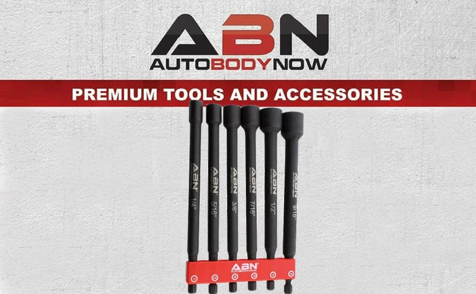 ABN SAE Socket Set Magnetic Driver Bit Extension Bits by Auto Body Now Premium Tools and Accessories