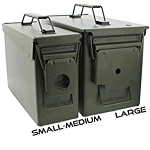 Picture of 2 ammo can sizes