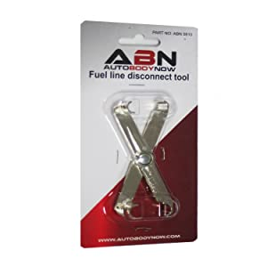 """ABN Fuel Line Disconnect Scissor Tool for 5/16"""" Inch and 3/8"""" Inch GM,  Ford, and Mazda Vehicle Fuel Lines"""