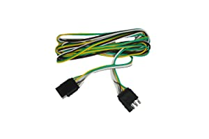 amazon com abn trailer wire extension 8 foot 4 way 4 pin plug rh amazon com 4 pin wiring harness 4 pin wiring harness