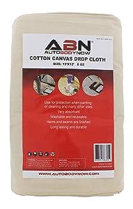 about abn premium 12u0027 x 15u0027 foot jumbo xxl canvas cotton drop cloth all purpose paint shield