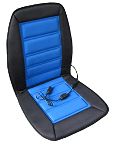 About ABN Heated Car Seat Cushion V Adjustable Temp in BlueBlack Heated Chair Cover for Vehicle RV or fice Chair