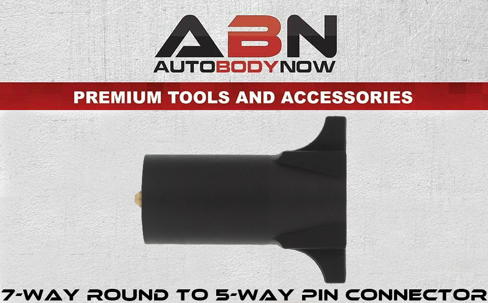 Saves Time and Money! ABN 7 Way Round to 5 Way Pin Flat Trailer ...