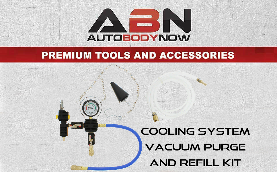 Van Light Truck Radiator ABN Cooling System Vacuum Purge and Refill Kit with Carrying Case Car SUV