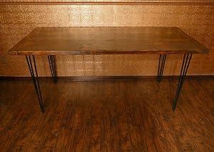 """7Penn Hairpin Style Large 28"""" Inch Black Satin Metal Furniture Legs 4-Pack"""