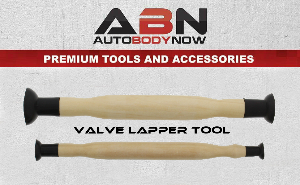 """5//8/"""" 1-1//8/"""" ABN Valve Hand Lapping Grinding Tool Kit 2-Piece Set 1-3//8/"""" Dual-End Suction Cup Lap Stick 3//16/"""" Inch"""