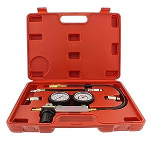 Picture of cylinder leak detector engine compression tester kit in storage case