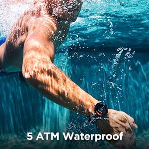 5ATM waterproof rating