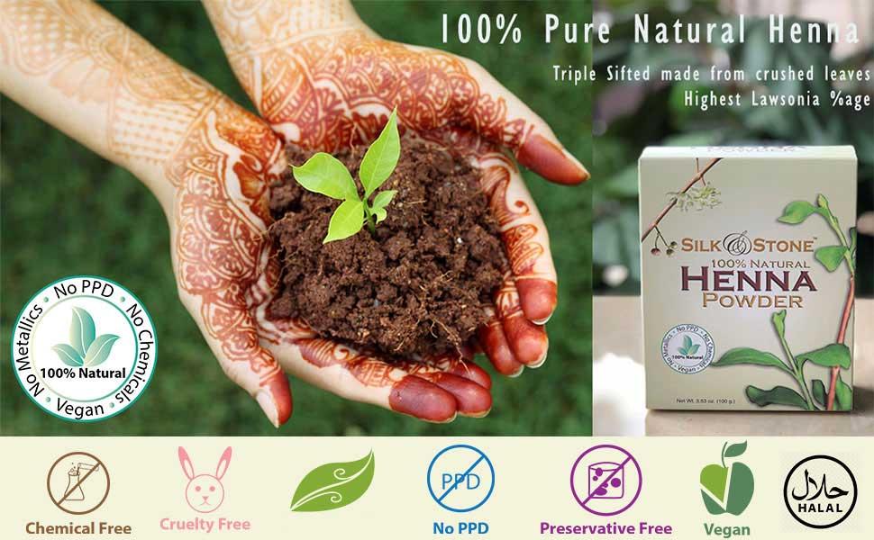 Amazon Com Silk Stone 100 Pure Natural Henna Powder