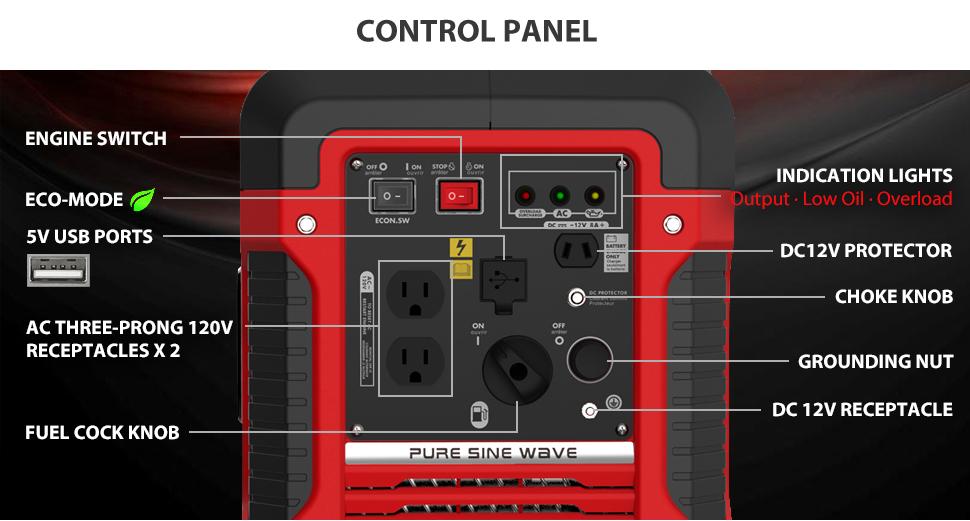 Amazon Com Rockpals 2000 Watt Portable Inverter Generator