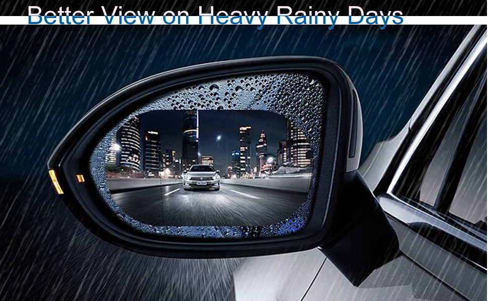 repel rain water car side view mirror get better view