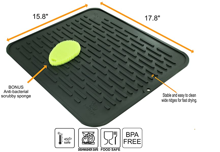 Home & Garden Search For Flights Soft Dish Drying Mat Square Premium Heat Resistant Non-slip Mat Tableware Dishwaser Durable Pad Dinnerware Table Mat Placemat At Any Cost
