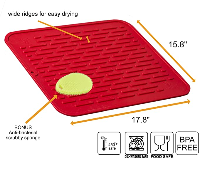 The Tortuga XL Silicone Dish Mat - 17.8