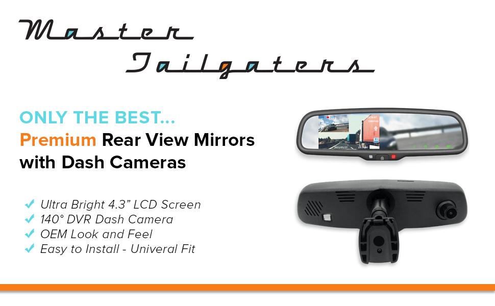 rear view mirror dash cam lcd backup camera display