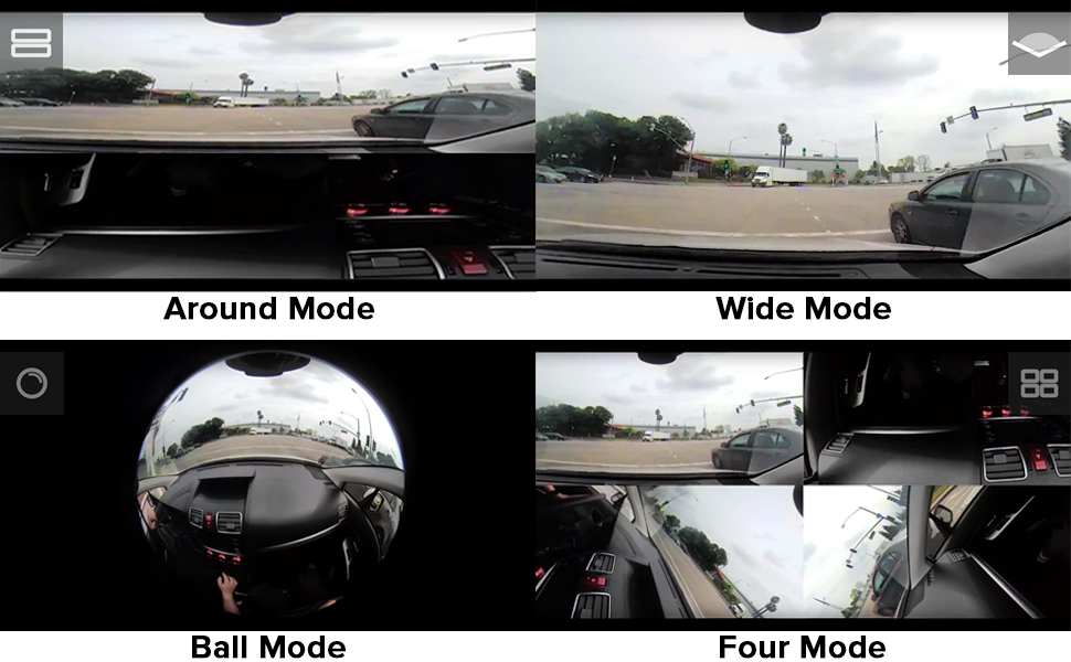 four 4 display viewing modes