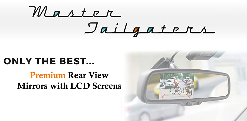 Amazon Com Master Tailgaters Oem Rear View Mirror With 4 3 Auto Adjusting Brightness Lcd Compass Temperature Universal Fit Electronics
