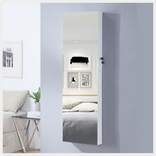 Standing / Wall Mount Full Length Mirror Jewelry Armoire