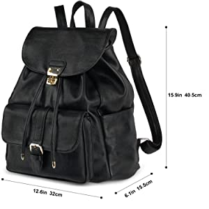 63008ee119f Amazon.com  Leather Backpack For Women