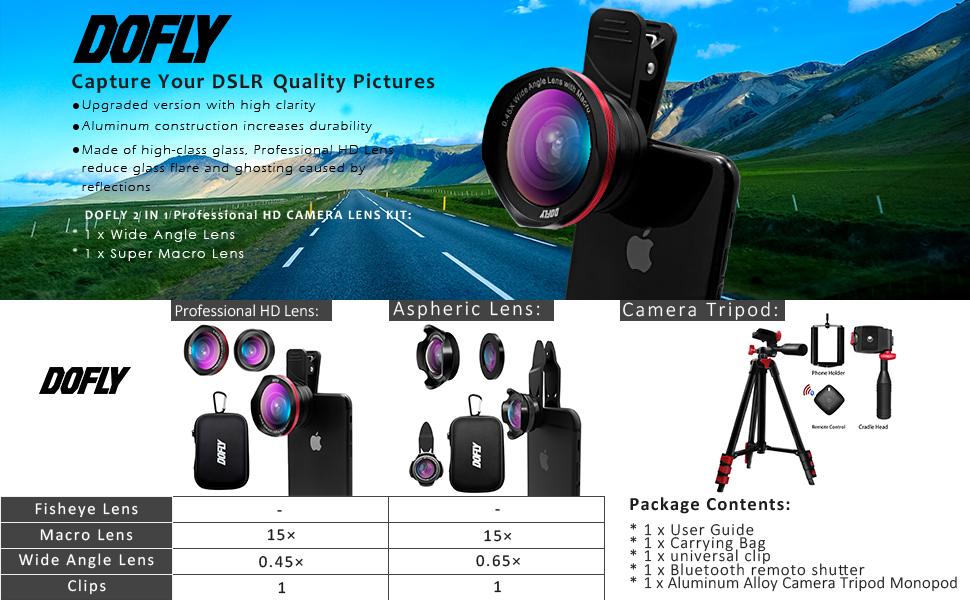 4K HD Shooting Lens,Cell Phone Lens Kits,8X Macro Lens