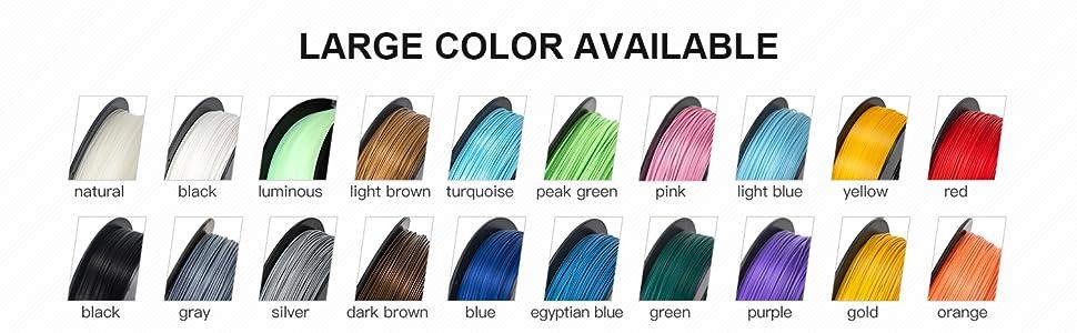 inland pla filament colors