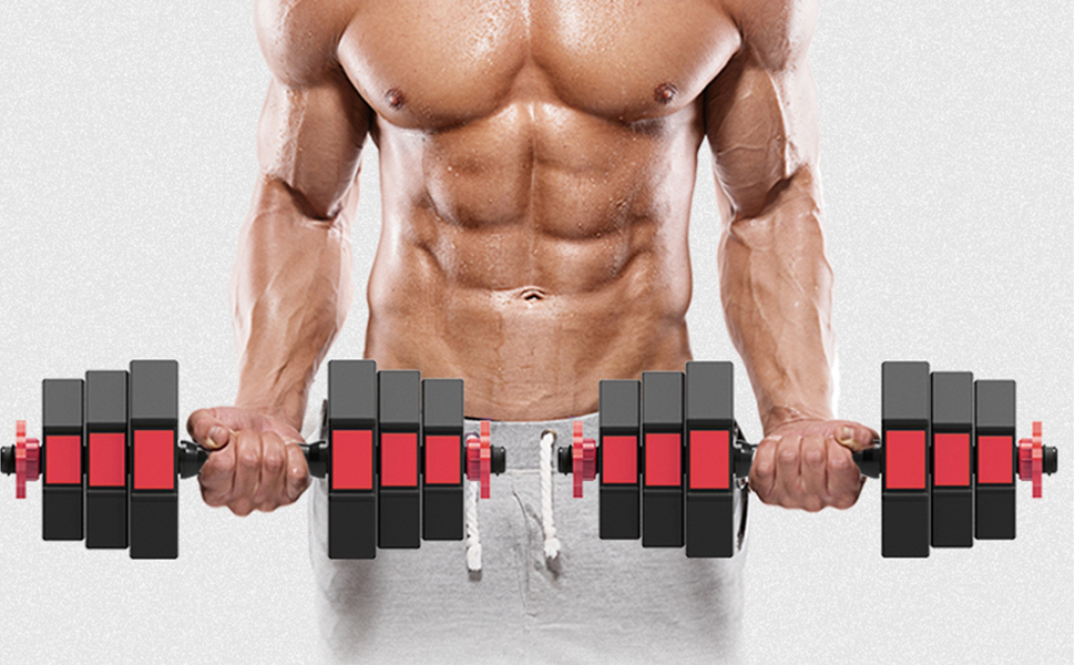 dumbbells set with adjustable weight