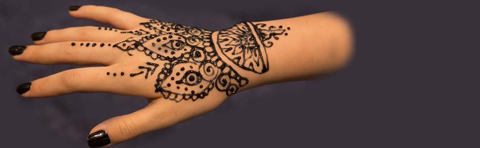 9d45c7d40 Amazon.com : Earth Henna Organic Jagua Black Temporary Tattoo and ...