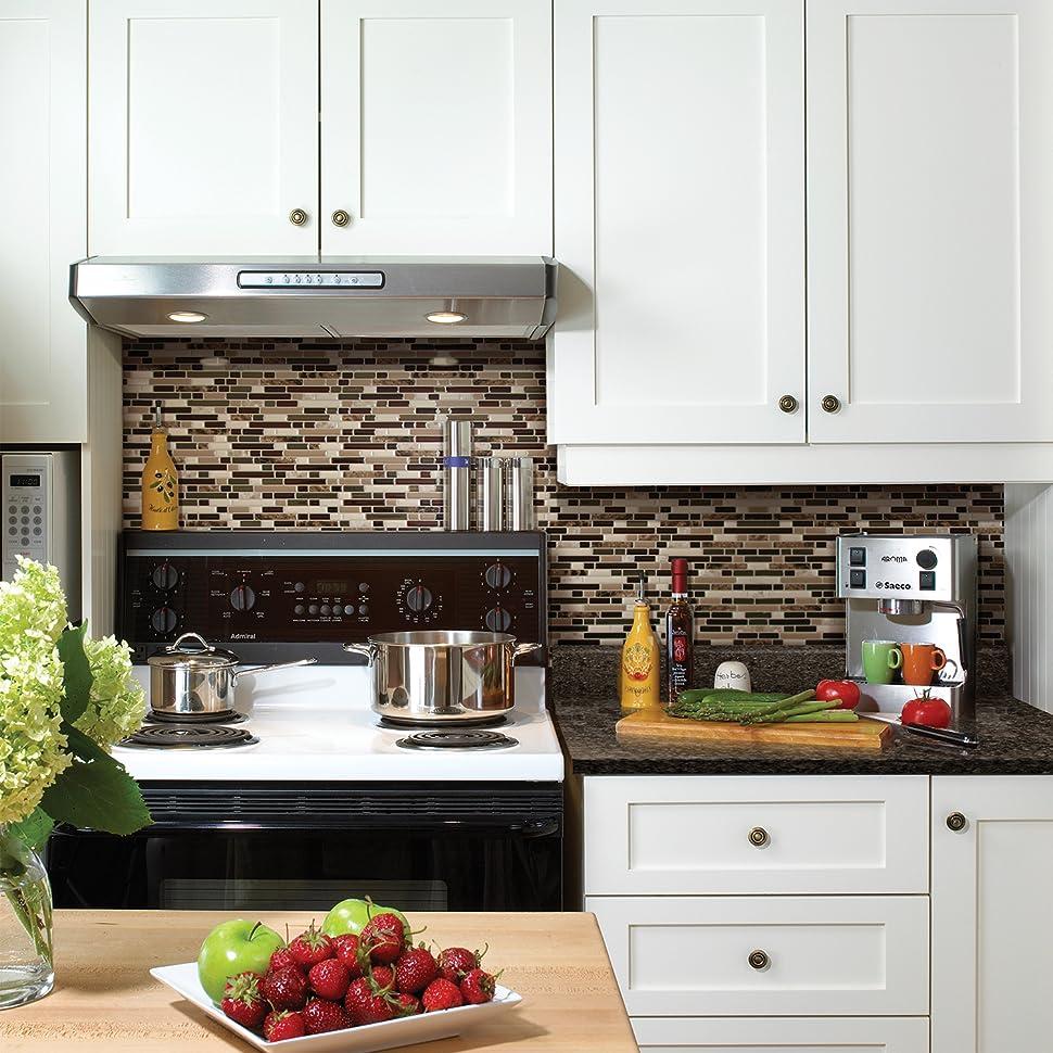 Peel and stick smart tiles backsplash the bellagio keystone