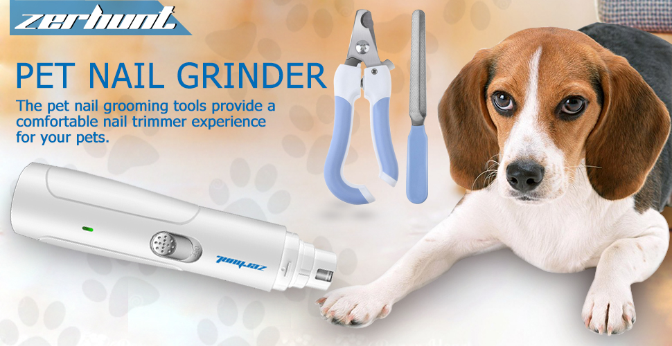 Amazon.com: Zerhunt Dog Nail Clippers, Electric Pet Nail Grinder ...