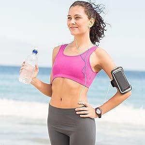 running armband arm band sleeve se s c wristband runner run jog jogging walk exercise wireless fit i